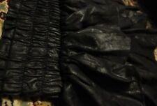 Leather Cute Kawaii Black Mini Skirt (small size)