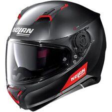 New - Nolan N87 Emblema Full Face Motorcycle Helmet - Matt Black/Red