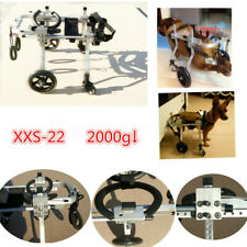 """8''-10"""" Height 4 Wheels Cart Pet Wheelchair for Handicapped Dog Cat Doggie"""