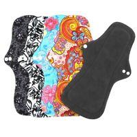 Cloth Menstrual Pad Mama Sanitary Bamboo Charcoal Reusable Wet Bag Overnight