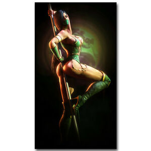 Mortal Kombat X Fighting Games Silk Poster 13x24 24x43 inch JADE