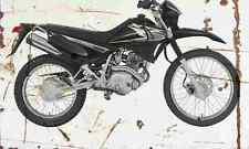 Yamaha XTZ125 2002 Aged Vintage SIGN A4 Retro