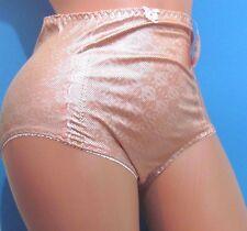 B5 VIP Orange Foil Metallic shiny high cut waist brief bikini panties M L XL XXL