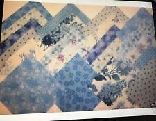 Blue Blenders Cotton Quilt Fabric Squares Charm Pack Blocks