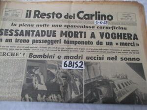 FERROVIE DISASTRO FERROVIARIO DI VOGHERA 1 GIUGNO 1962    (6BIS2)