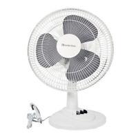 "Comfort Zone CZ121WT Quiet 3-Speed 12"" Oscillating Table Fan"