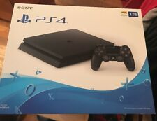 PS4 Slim 1TB Sony PlayStation 4 System Console Jet Black BRAND NEW SEALED