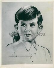 1953 Sketch of Prince Charles at 4 Years Old Original News Service Photo