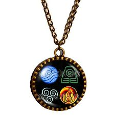 Avatar the last Airbender Necklace Fire Water Earth Air Elements Legend of Korra