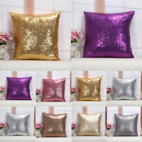 Glitter Sequins Throw Pillow Case Covers Home Bed Sofa Waist Cushion Case Decor