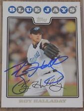 Roy Halladay 2008 Topps #230 Signed Card PSA DNA Blue Jays