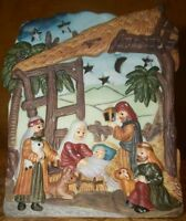 "Collectible Ceramic ""Nativity"" Candle Holder- 5.5""H x 4.25"" X 3.5"""