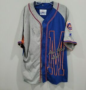 Autographed PAT MAHOMES Sr. NEW YORK METS Starter Jersey M Patrick's Dad Chiefs