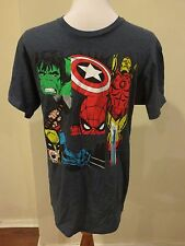 AVENGERS Vintage Look T Shirt Navy Heather Mens Size M NWT