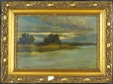Antique Original 1928 Tonalist Oil Painting by Tolevessy Laszlo Listed