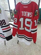 Jonathan Toews Chicago Blackhawks Reebok 7187A Jersey Sz 52 (NHL, Fight Strap)
