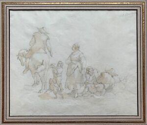 Filippo Bombelli - Italian School - Rare Original Drawing c1822