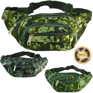Fanny Pack Waist Bags Canvas Belt Hip Camo Travel Sports Pouch Purse Bum Bag Lot