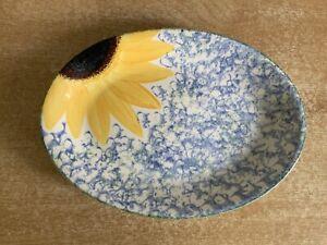 Poole Vincent Sunflower - 22.5 cm Oval Plate