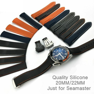 Rubber Silicone Watch Bands Strap For Seiko Omega-Watch AT150 Seamaster-007