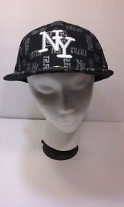 NY Cap Trucker HAT Cotton black fitted size 7 1/2 one size 60cm