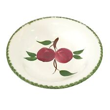 1 Quaker Apple 9 Inch Round Vegetable Bowl Blue Ridge Southern Pottery Red Green