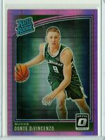 DONTE DIVINCENZO Bucks 2018-2019 Donruss OPTIC HYPER PINK RATED ROOKIE #164