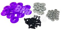 Go Kart Racing Purple Plastic Washer for Fiberglass Body Mounting Kit Set NEW