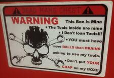 Red Deadmans Chest overlay decal Snap on tool box cart krl
