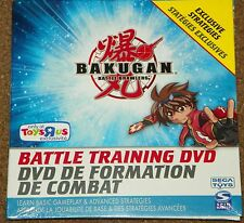 NEW BAKUGAN Toys R Us BATTLE TRAINING DVD Sealed