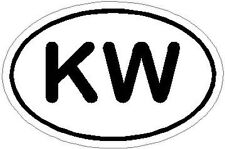 "Key West Decal, Sticker  ""KW"""