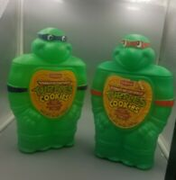 VTG 1990 TMNT Delicious Cookie Jar Coin Bank Donatello & Ralphael Empty uncut