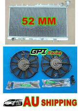 GPI Aluminium Radiator For Nissan N14 GTIR SR20DET Pulsar N15 + FAN
