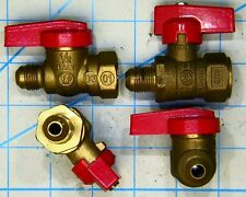 """INLINE GAS PIPE BALL VALVE 1/2"""" FLARE FEMALE FIP Gas Cock Lever Propane Natural"""
