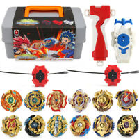 12PCS Beyblade Burst Set Spinning With Grip Launcher+Portable Box Case Toys Gift