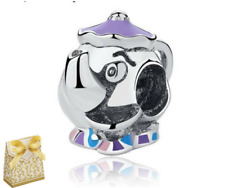 💎🎀DISNEY MRS POTTS CHIP BEAUTY AND THE BEAST TEAPOT CHARM 4 EUROPEAN+ gift box