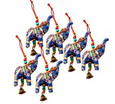 Elephant Bell Hanging Layer Set of 6 Home Christmas Hanging Decorative Ornaments