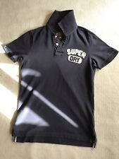 SUPERDRY Mens/Boys Polo Shirt UK Size S Blue/Navy