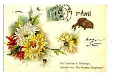 CPA Carte Fantaisie 1er Avril poisson carte relief fantasy postcard