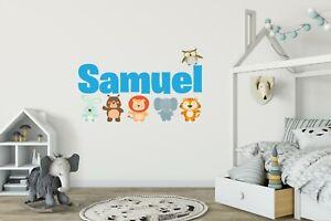 Custom Name Baby Animals -Personalized Safari Jungle Animals Series Wall Decal