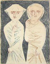 CAMPIGLI Massimo. La passeggiata. Litografia originale a colori 1952
