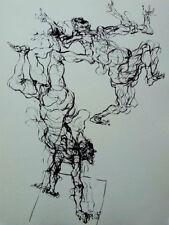 Claude WEISBUCH - Les acrobates  - POINTE SECHE #1966 + justificatif