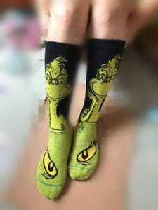 Dr.Seuss The GRINCH Soft Comfy Unisex Socks Ages 12 Plus SUPER SOFT WARM