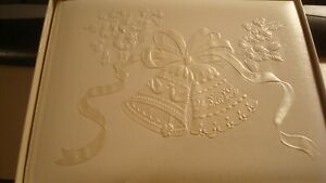 Hallmark Wedding Guest Book #4408 White Bells New In Box Beautiful Elegant
