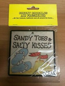 cheeky chuckles Air Freshener New Sealed Car Home Office funny gift sandy toes