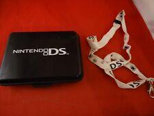 OFFICIAL Nintendo DS Black Travel System Game Carrier Hard Case Storage +Lanyard