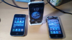 Iphone 2G A1203 Apple 1st generation 8gb + iphone 3g A1241 + iphone 3gs A1303