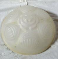 Vasque verre décor coquillage art-déco Abat-jour ancien style Degué, Muller