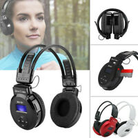 Foldable Sports Wireless Headset LED FM Radio ABS Headphone Support TF Card