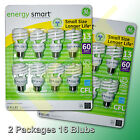 LOT OF 2 PACKS GE ENERGY SMART CFL LIGHT BULB 13/ 60 WATT, TOTAL 16 BULBS 120V.